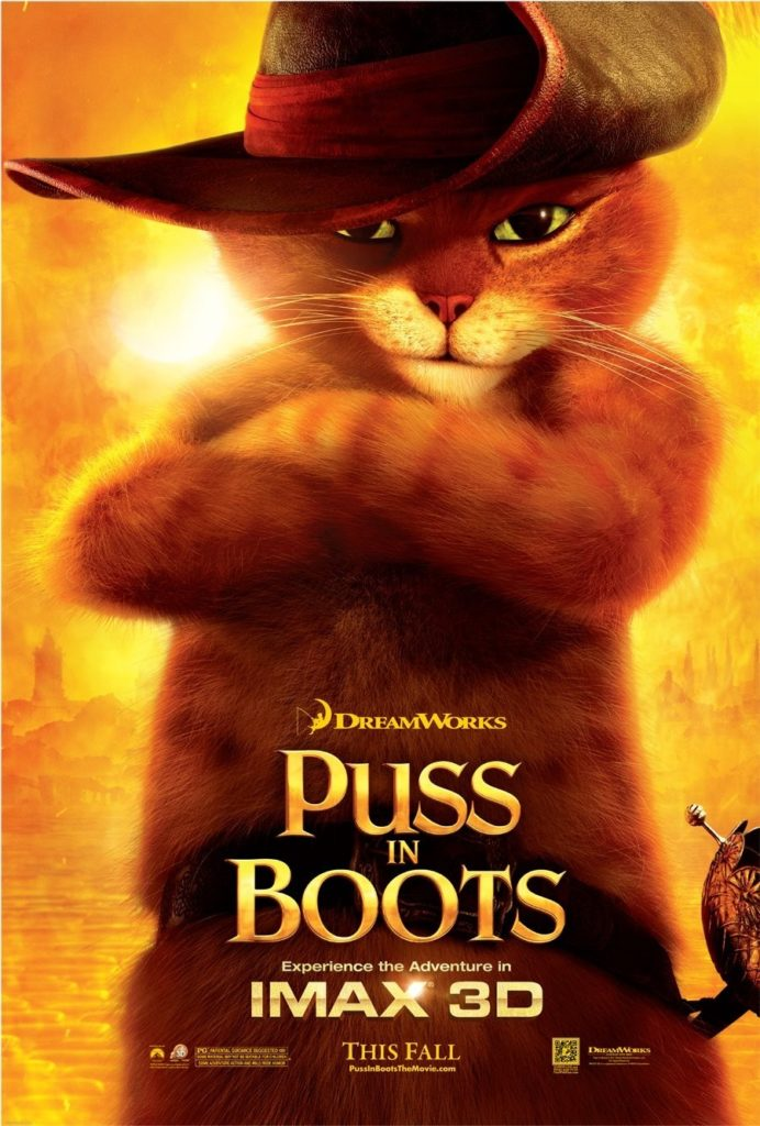 Puss in boots for free